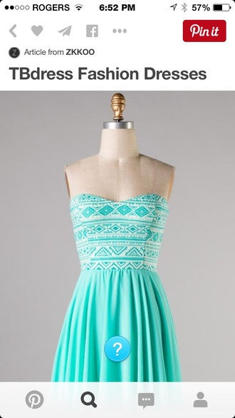 dress mint pretty cute