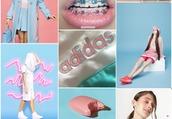 underwear,white fashion,white,pastel,pale,tumblr,fashion,pink,cute,sweet,kawaii,grunge,soft grunge,charlie barker,joanna kuchta,adidas