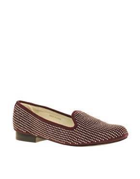 Asos white winslow pin stud slipper at asos