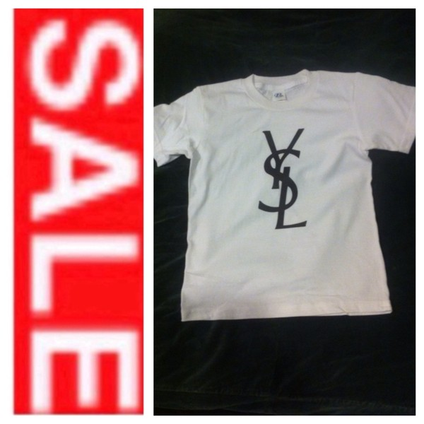 t-shirt t-shirt chanel t-shirt ysl t shirt ysl top ysl for kids