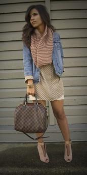 shoes,clothes,blogger,scarf,dress,bag