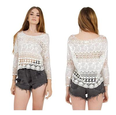 Mashup crochet white top · trendyish · online store powered by storenvy
