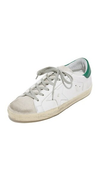 sneakers silver white green shoes