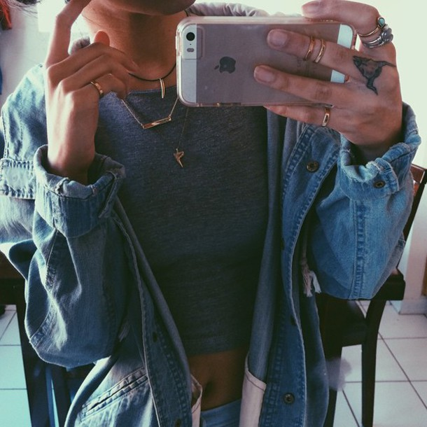 coat jacket t-shirt denim