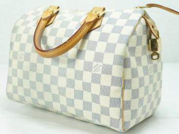 Louis Vuitton: Louis Vuitton Damier Azur Speedy 25 Boston Bag | MALLERIES