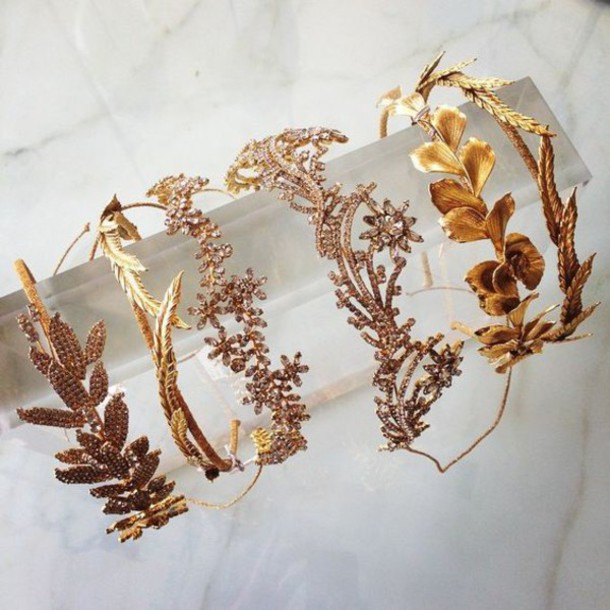hair accessory crown gold diamonds rhinestones tiara hipster