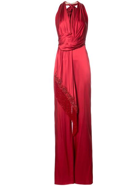 Marchesa jumpsuit women red