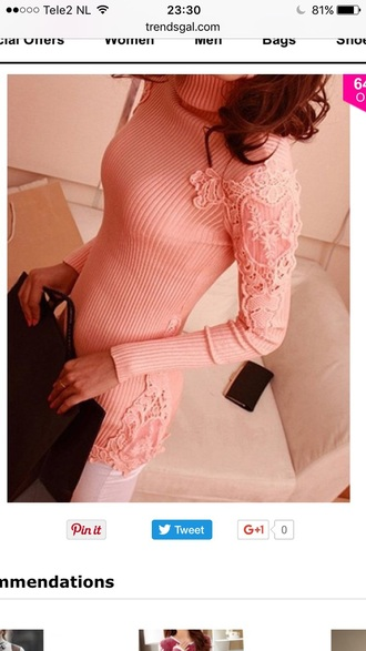 sweater pink fashion style trendy knitwear long sleeves fall outfits trendsgal.com
