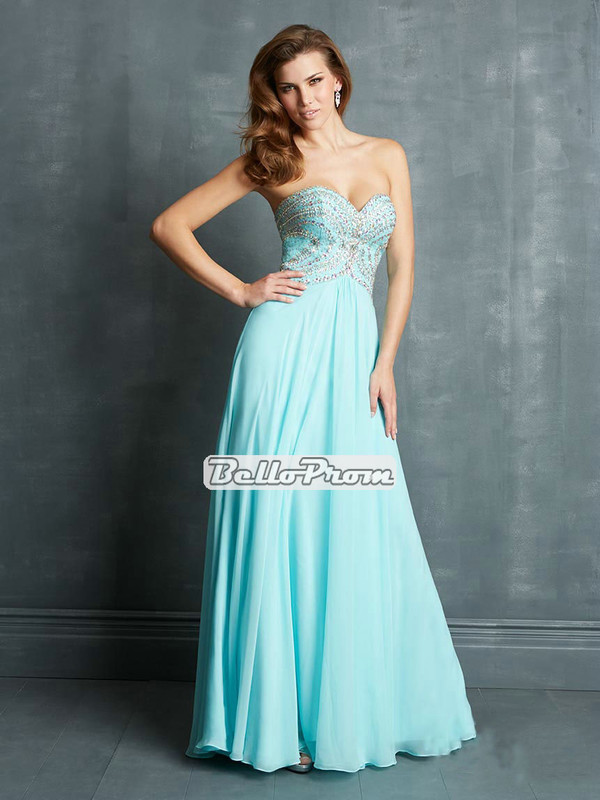 blue prom dress chiffon prom dress