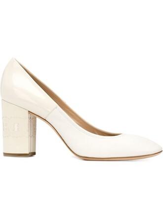 heel chunky heel pumps white shoes