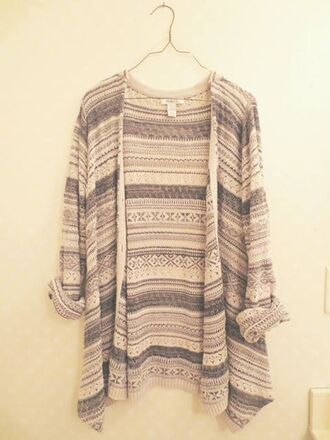 cardigan tribal grunge indie oversized