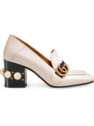 heel metal women leather nude shoes