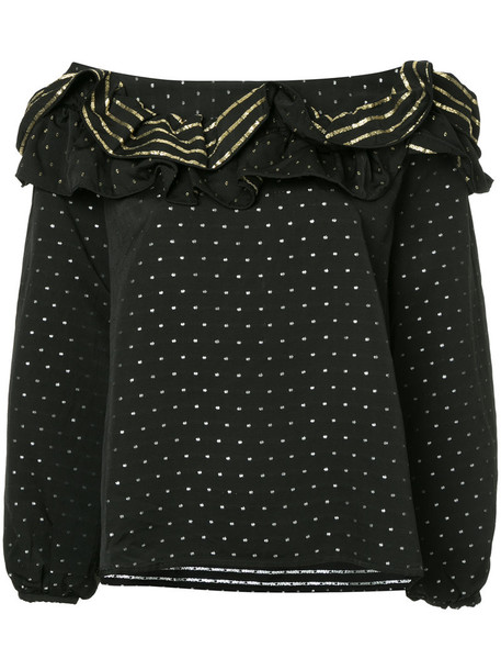 KAGE blouse women black top