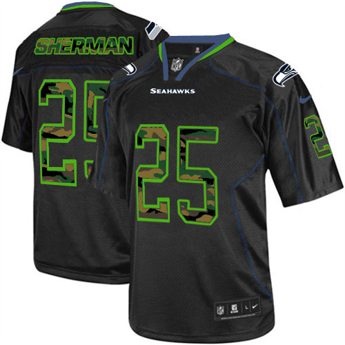 Navy Grey White Richard Sherman Elite Jersey,Nilke Seattle Seahawks Online Sale