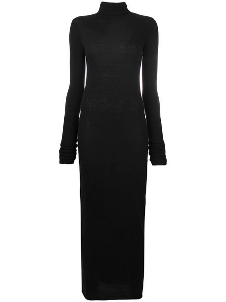 Rick Owens Lilies dress women black wool knit