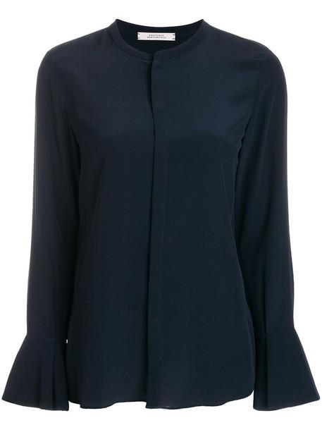 Dorothee Schumacher blouse women blue silk top