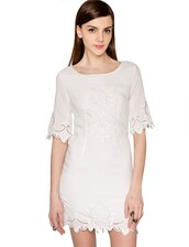 dress,cute,white,lace,cute dress,trendy,bell sleeves,short sleeve