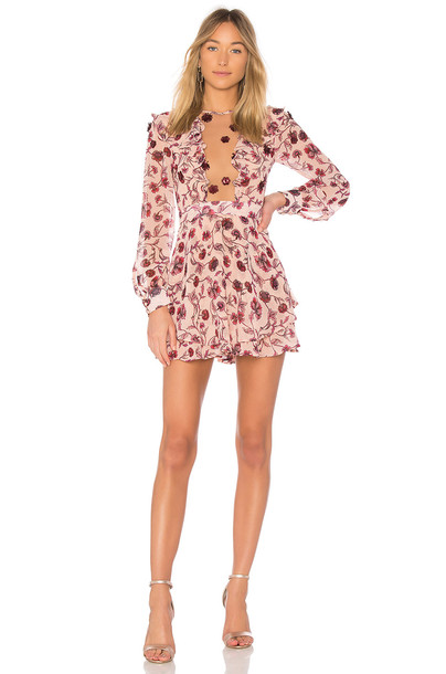 For Love & Lemons dress mini dress mini rose