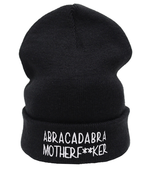 ABRACADABA MOTHERF**KER Beanie Hat £8.99   Free UK Delivery   10% OFF