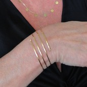 jewels,14k gold bracelet,theresa mink designs,gold cuff bracelet,gold bangle