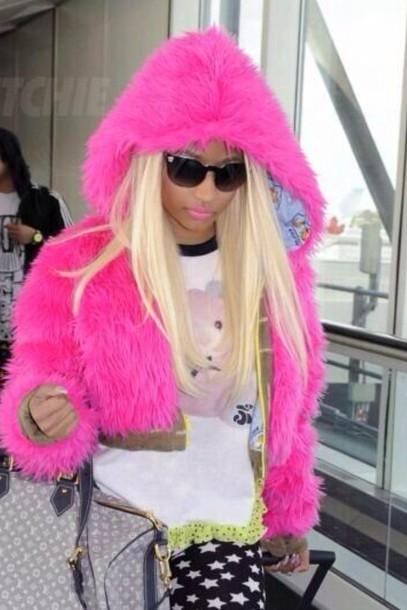 coat pink fluffy coat