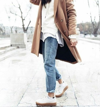 jacket white white jacket taupe winter outfits winter style style fashion moda