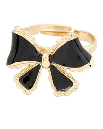 jewels bow bow ring crazeemania youngandforever black ring ring jewelry black jewels gold black