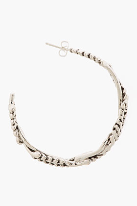 Aurélie Bidermann Silver Plated Multi Wheat Head Hoop Earrings for women | SSENSE