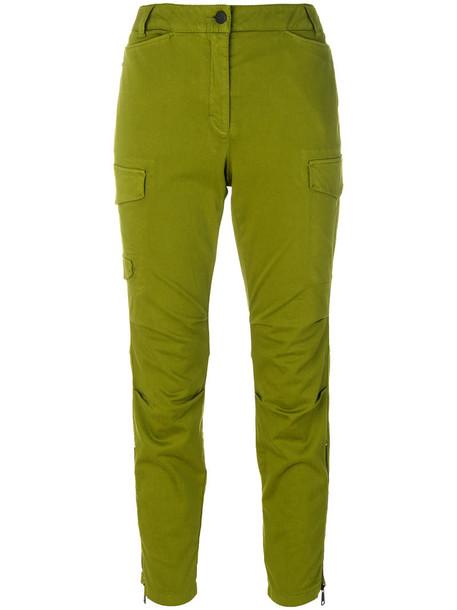 Luisa Cerano pants cargo pants high waisted high women spandex cotton green