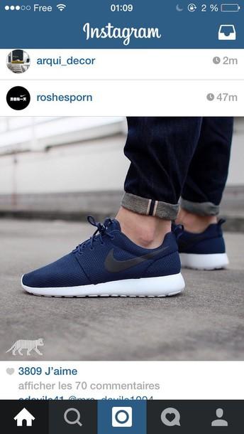 shoes nike roshe run nike sneakers nike roshe run nike running shoes sneakers fashion nike roshe run dark blue