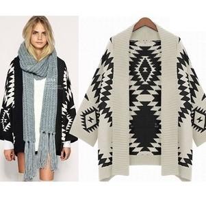 shipping! 2014 Spring fashion Women Aztec Cardigan Tribal Print ...