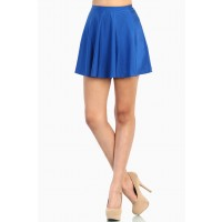 LoveMelrose.com From Harry & Molly | Royal Blue Skater Skirt - Blue