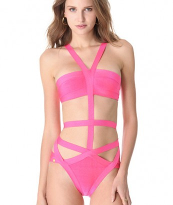 Dragon-fruit Delight Pink Monokini- A sexy pink monokini perfect for that resort getaway