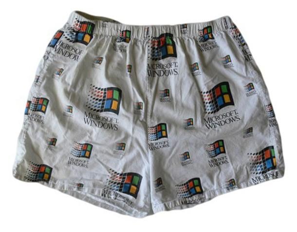 underwear windows white menswear boxers microsoft geek