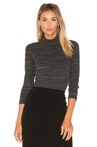 turtleneck charcoal sweater