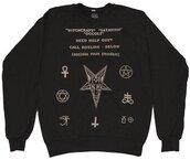 black sweater,nail accessories,sweater,satan
