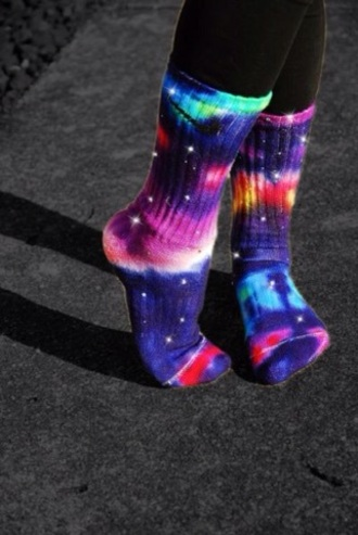 socks galaxy print