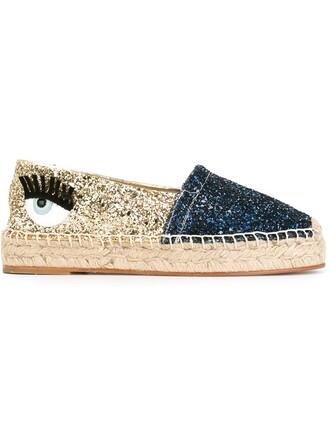 glitter espadrilles blue shoes