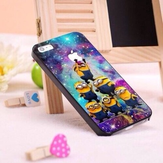 jewels minions phone phone cover iphone 5 case iphone case iphone cover cute apple