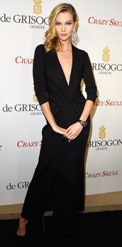 dress,black,karlie kloss,maxi dress