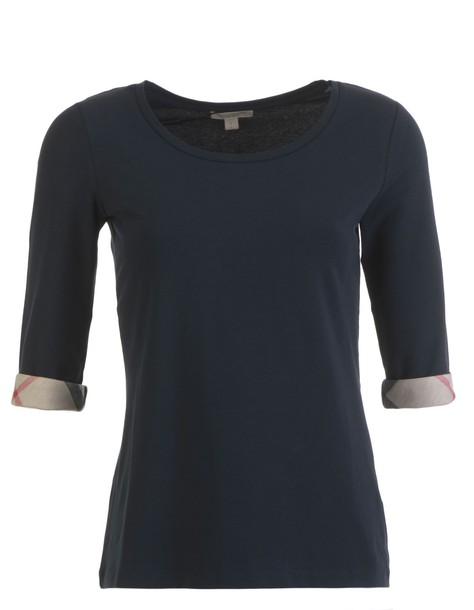 Burberry t-shirt shirt cotton t-shirt t-shirt cotton dark blue dark blue top