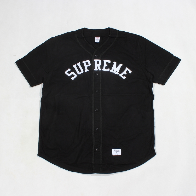 Supreme Baseball Jersey black size S M L XL-in T-Shirts from Apparel & Accessories on Aliexpress.com
