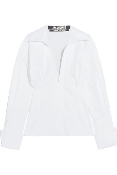 shirt white cotton top