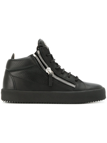 GIUSEPPE ZANOTTI DESIGN women sneakers leather black shoes