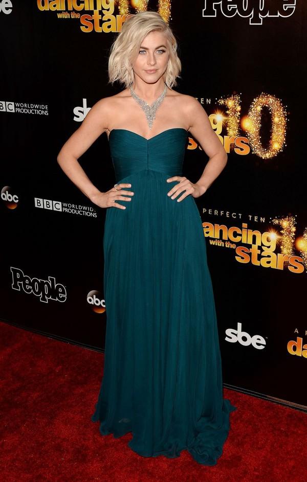 Julianne Hough Yellow Dress Designer