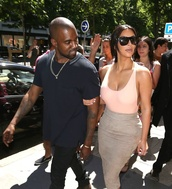 top,kim kardashian,kayne west,celebrity style,style,summer outfits,fashion,gorgeous,pink,thin,cleavage,bones,heels,ankle boots,high heel,celebrity heels