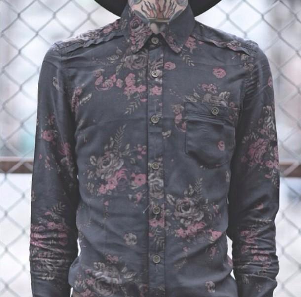 blouse flowers drop dead clothing