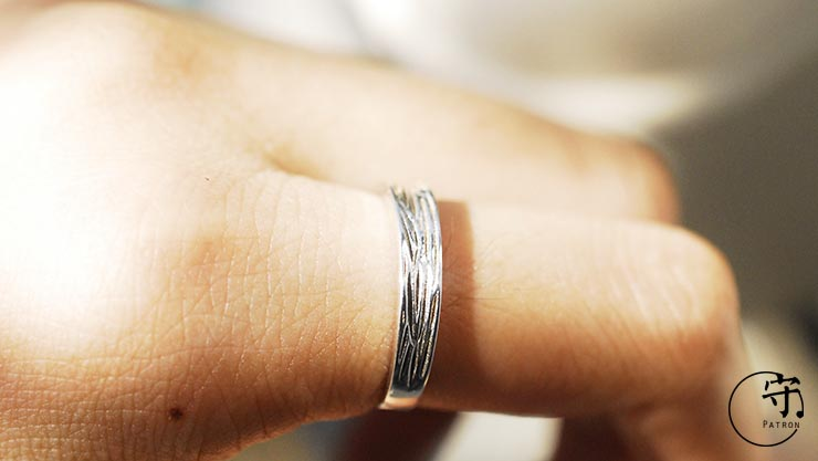 Original Natural Bark Texture Ring Handmade Sterling Silver - Wishbop.com