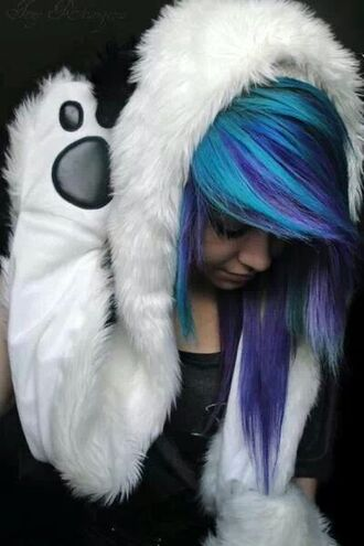hat hat cool cute sweater cute bear polar bear pastel goth goth paws sweater with ears animals jumper hoodie cute hoodie white bear hoodie white bear hoodie with paws pastel goth sweater