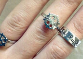jewels,jewelry,ring,silver ring,snowflake,moon,style,kawaii grunge,pastel goth,christmas,rings and tings,rings and jewelry,silver jewelry,snowflake ring,kawaii